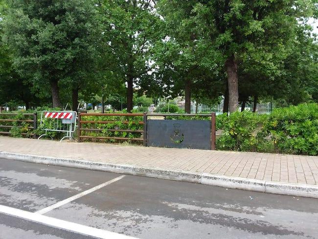 recinzione parco santa teresa spoltore