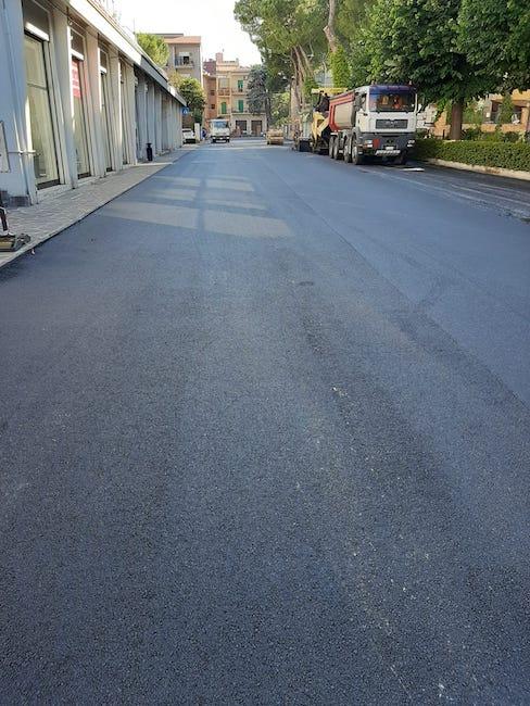 asfalto via tevere