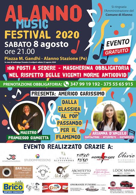 alanno music festival 8 agosto 2020