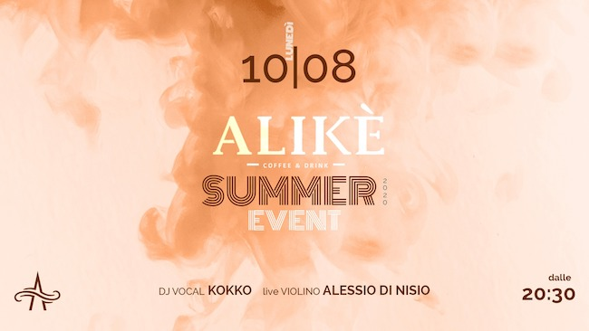 alike summer event 10 agosto 2020