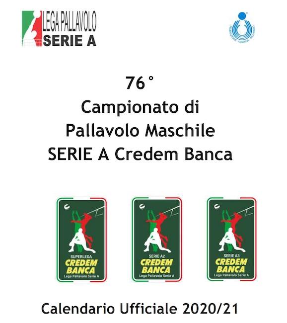 Calendario Serie A2 Pallavolo maschile 2020/2021