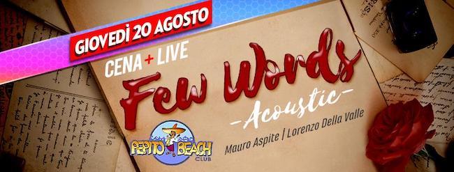 few words acoustic 20 agosto 2020