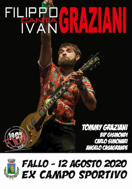 Filippo canta Ivan Graziani a Fallo il 12 agosto 2020