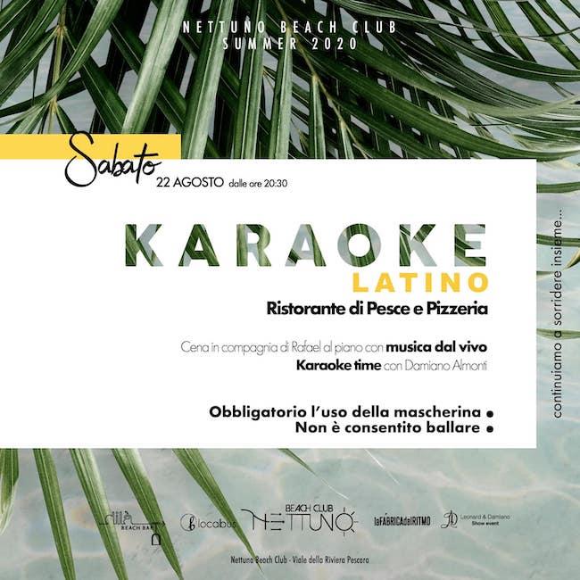 karaoke latino nettuno 22 agosto 2020