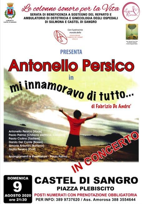 Antonio Persico, tributo a Fabrizio De Andrè a Castel di Sangro
