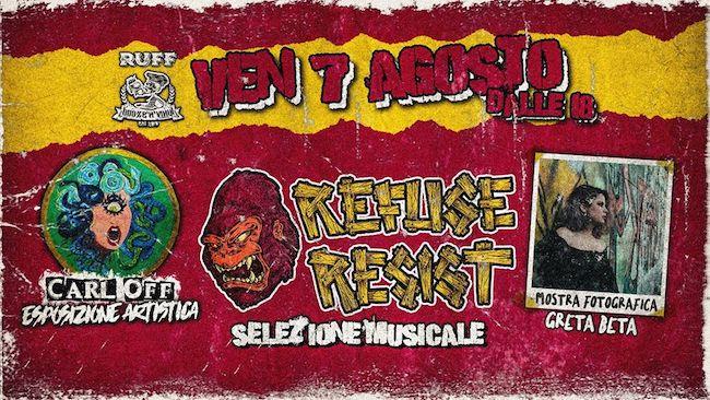 refuse resist 7 agosto 2020