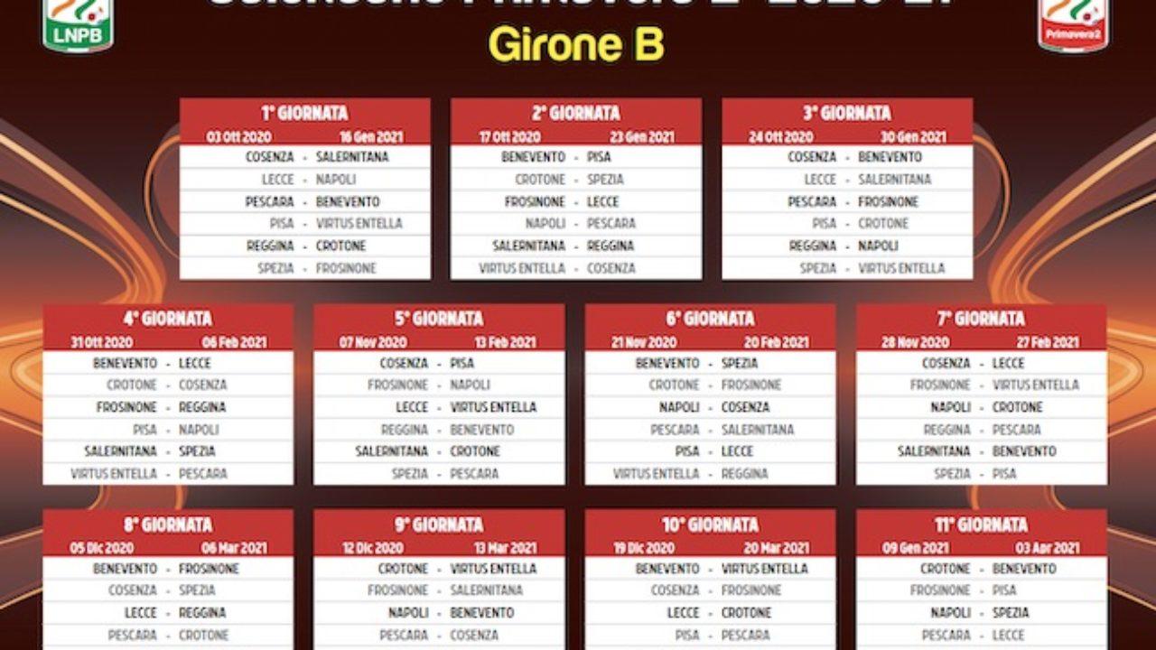 Calendario Pescara Primavera 2020 – 2021
