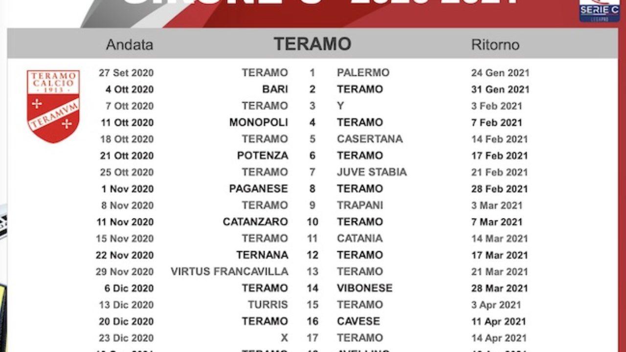 Calendario Scolastico 2021 22 Teramo Calendario Teramo Calcio 2020/2021: le partite dei biancorossi