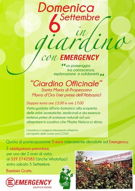 giardino emergency 6 settembre 2020