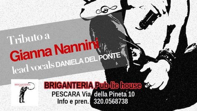 Tributo alla Nannini con Daniela Del Ponte alla Briganteria Pescara
