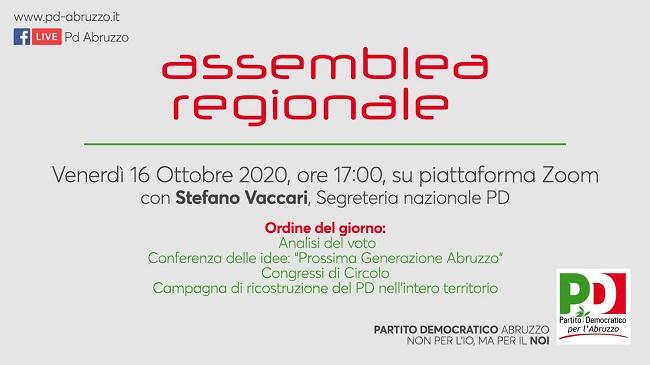 Assemblea regionale 16 ottobre 2020