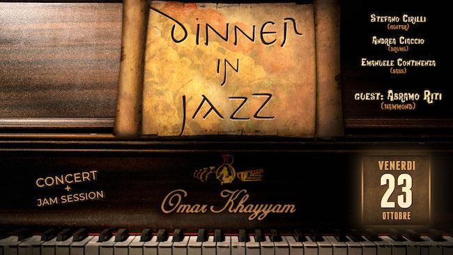 dinner in jazz 23 ottobre 2020