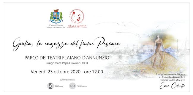 """""""Giulia, la ragazza del fiume Pescara"""", inaugurazione il 23 ottobre"""