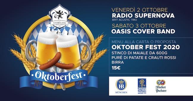 Oktoberfest 2020 al Temple Bar di Pescara: menù e concerti