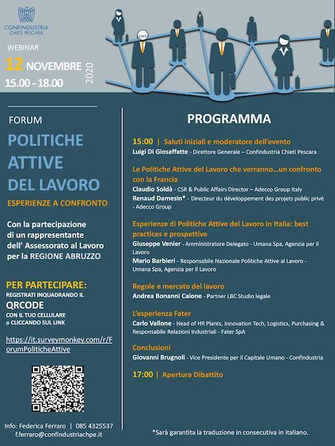Forum politiche attive del lavoro: esperienze a confronto