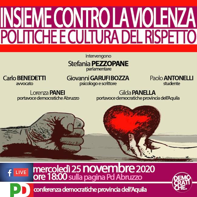 insieme contro violenza 25 novembre 2020