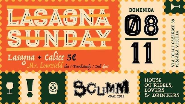 lasagna sunday 8 novembre 2020