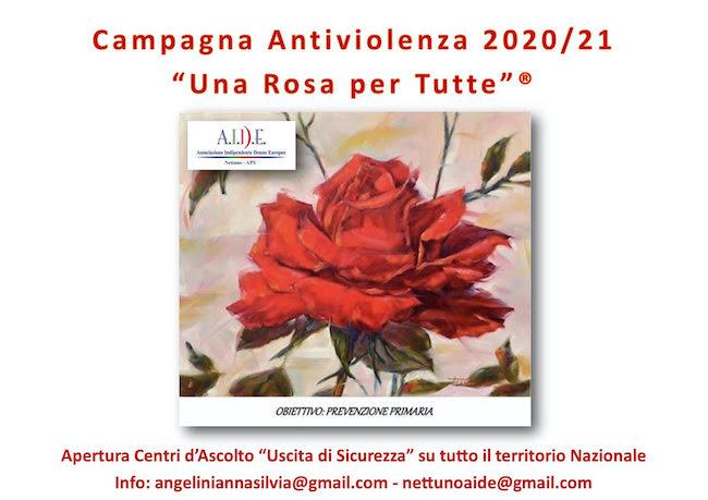 locandina campagna una rosa per tutte