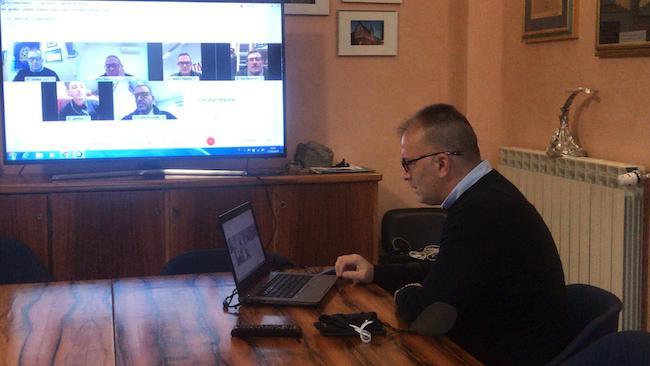 sindaco de martinis videoconferenza