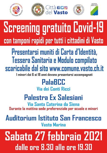 locandina screening vasto