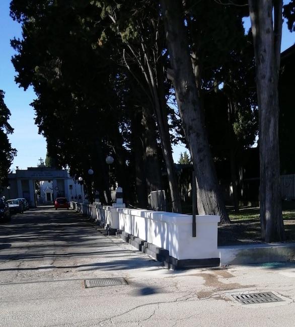 muretto cimitero giulianova