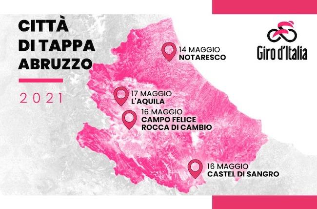 tappe giro d'italia 2021 abruzzo