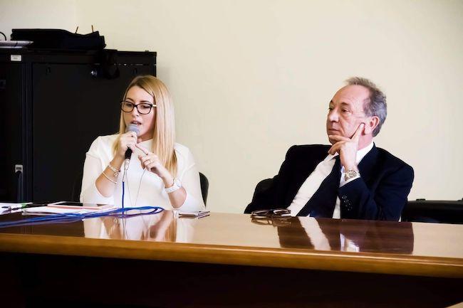 da sin. assessore Giulia De Lellis, sindaco Giorgio De Luca