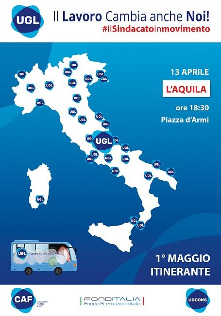 Locandina Tour UGL L'Aquila