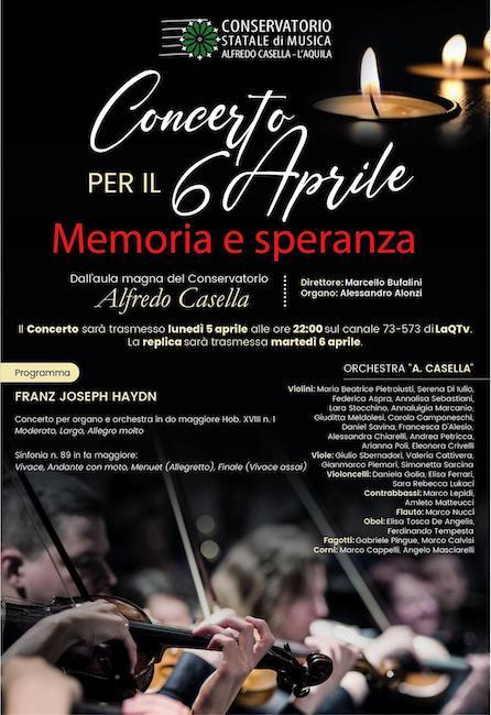 locandina concerto 6 aprile 2021