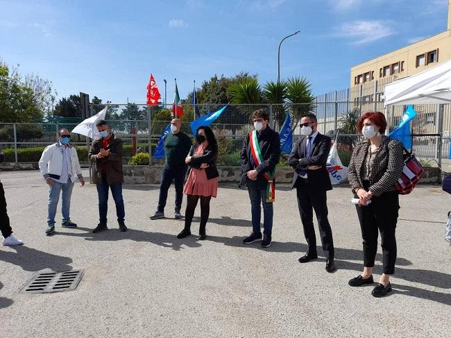 Pietro Smargiassi alla manifestazione della polizia penitenziaria di Vasto
