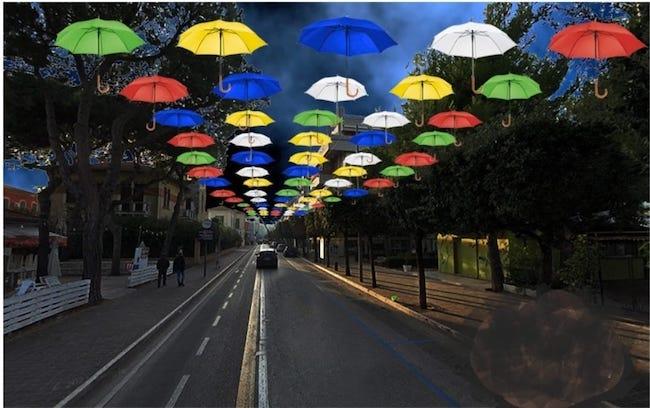 progetto installazione ombrellini giulianova