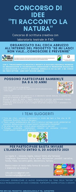 concorso di idee ti racconto lanatura_infografica