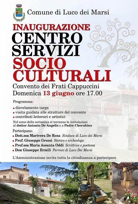 inaugurazione centro servizi socio-culturali