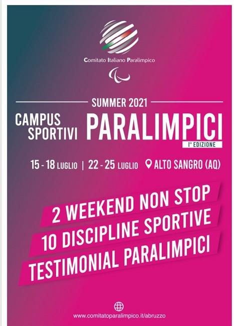 ampus Estivo Sportivo Paralimpico 2021