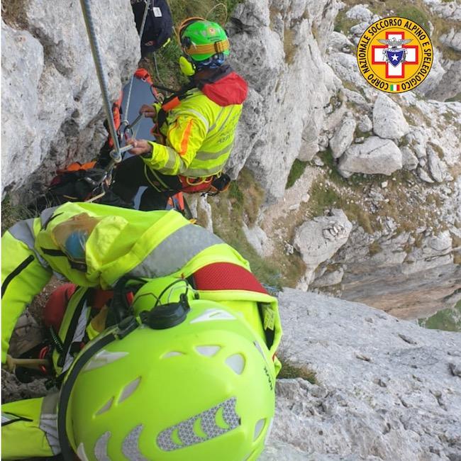 alpinista soccorso