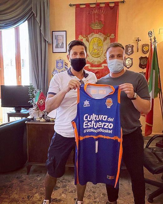 allenatore Di Pasquale e Sindaco Costantini