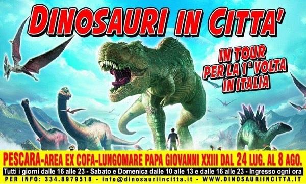 dinosauri in città pescara 2021