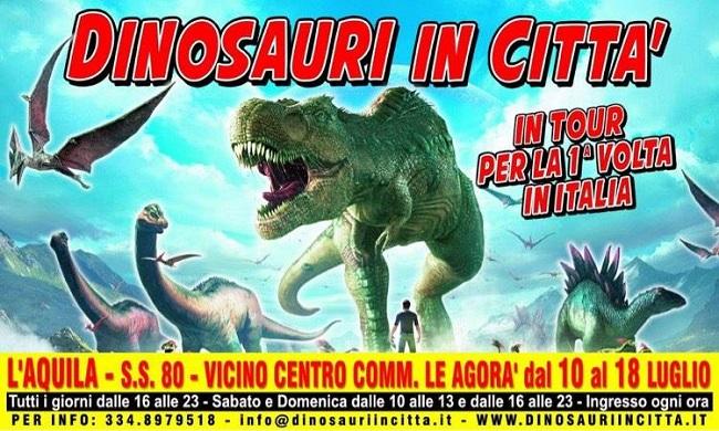 dinosauri in città
