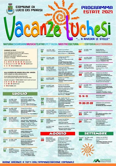 locandina Vacanze luchesi 2021