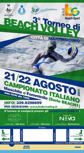 3° torneo beach volley martinsicuro 21-22 agosto 2021
