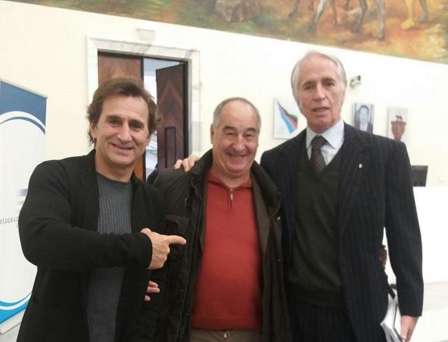 Alex Zanardi Fernando Ranalli Giovanni Malagò