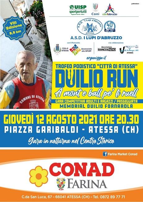 Duilio Run 12082021 locandina
