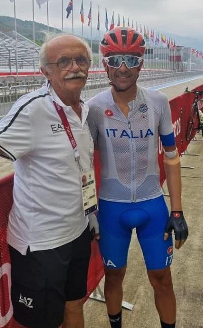 Il commissario tecnico Mario Valentini con Pierpaolo Addesi
