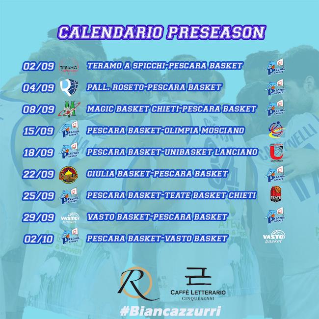 calendario preseason 2021-2022
