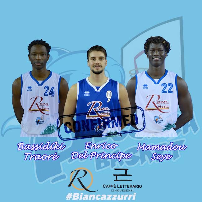 conferme under Pescara Basket