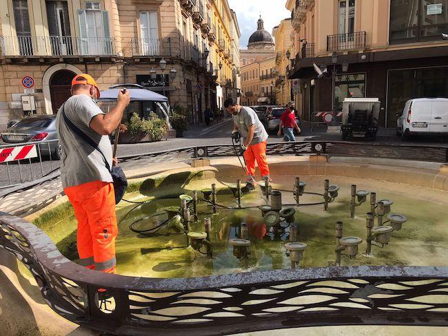 manutenzione fontana chieti