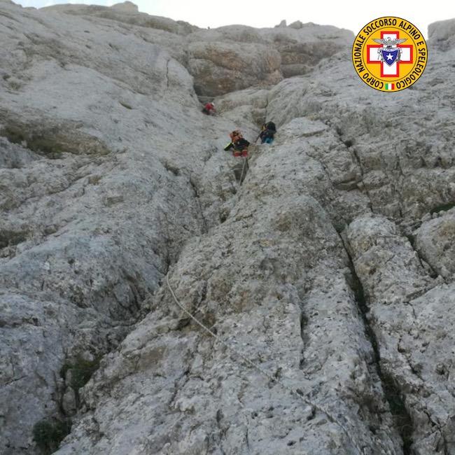 salvataggio alpinista gran sasso