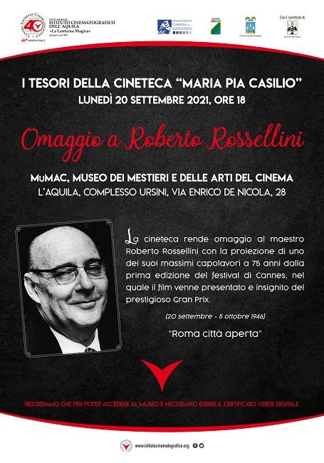 Locandina evento Rossellini