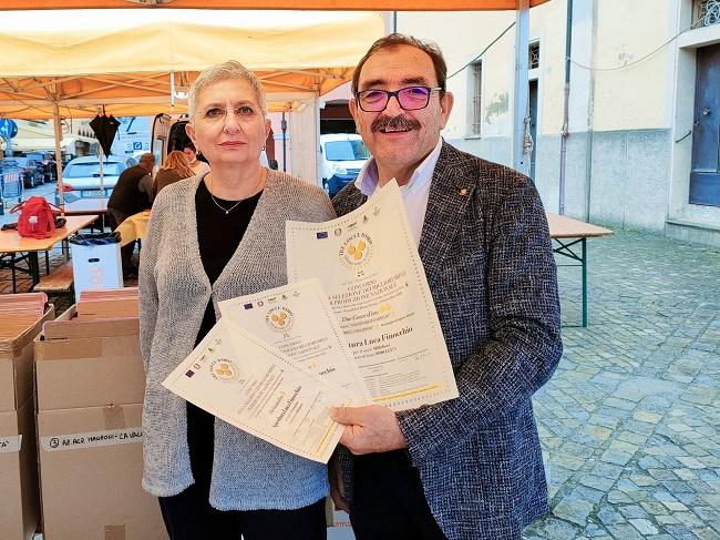 Luca Finocchio con Maria Lucia Piana