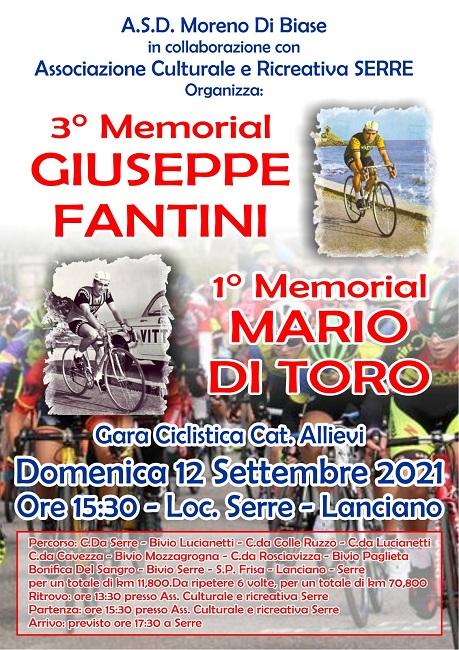 Memorial Giuseppe Fantini – Mario Di Toro 12092021 locandina